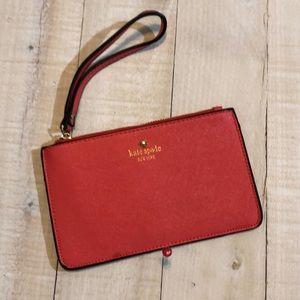 Kate Spade Bags - Kate Spade Bright Coral Clutch Wristlet